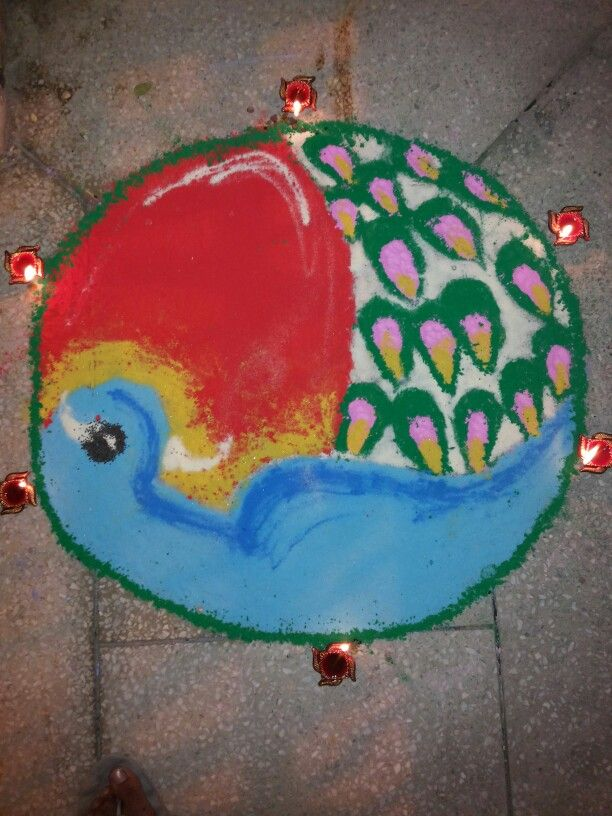 Colours of life!easy and clean rangoli according to India's culture using colours made at home :)
