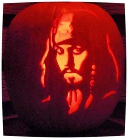 Caption Jack Sparrow Pumpkin Carving. Johnny Depp is welcome on any of my boards at any time of the year. ;-)