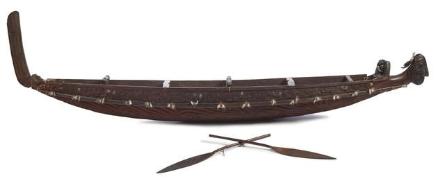 Object: Waka taua (model war canoe)   Collections Online - Museum of New Zealand Te Papa Tongarewa
