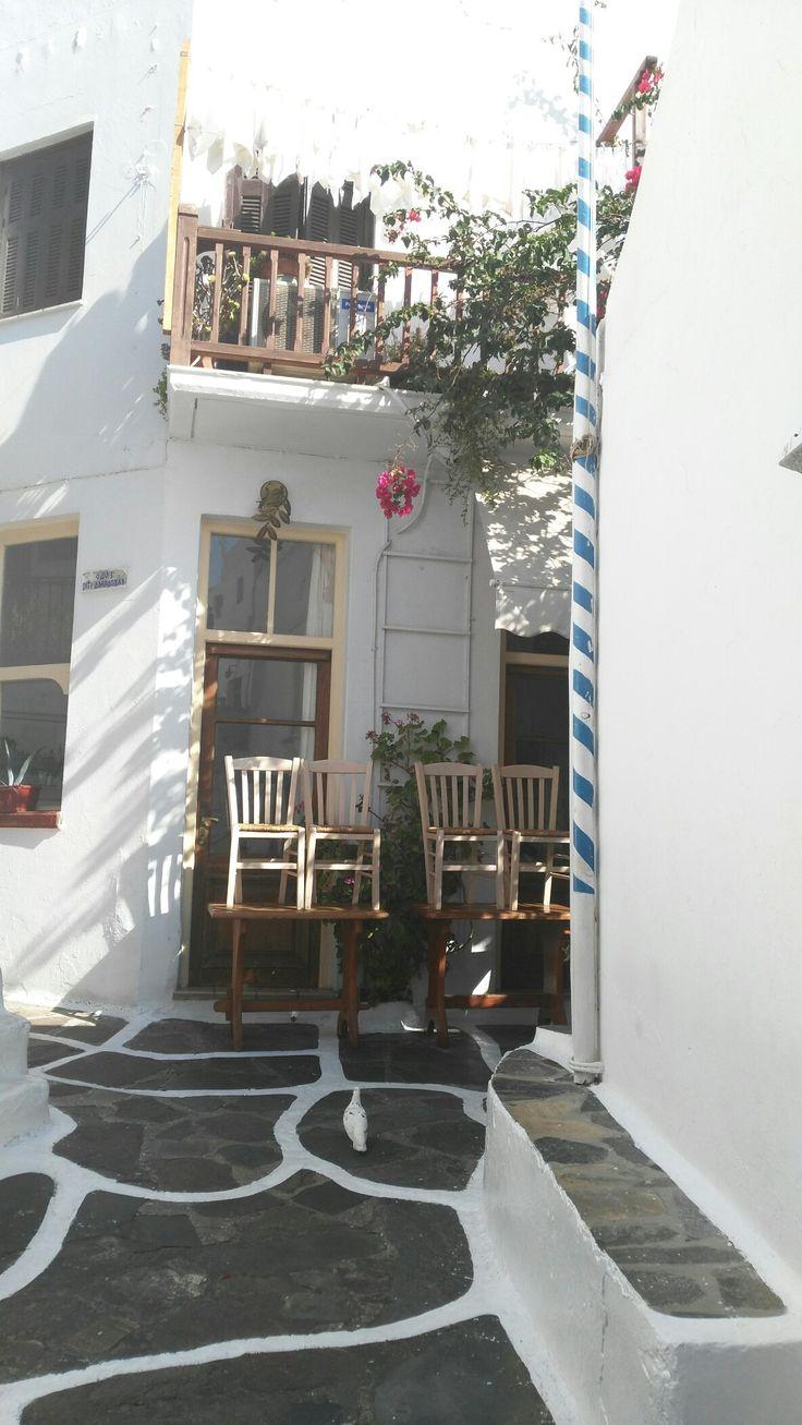 Mykonos town.