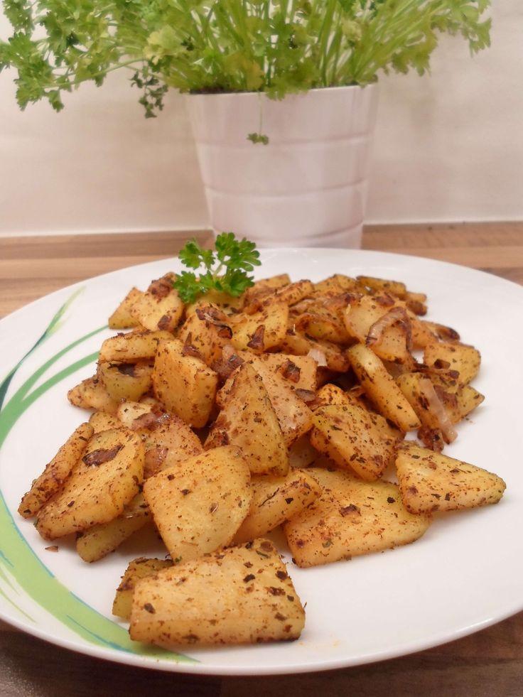 Low Carb Bratkartoffeln aus Kohlrabi - köstliche Alternative mit wenigen Kohlenhydraten!