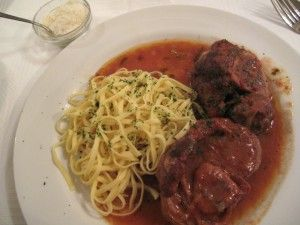 Osso buco with fettuccine