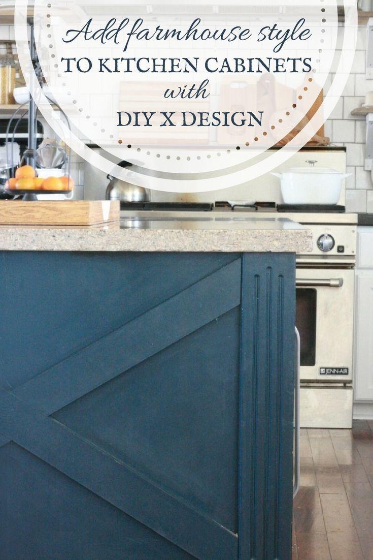 Do It Yourself Kitchen Island X Design   Rustic kitchen design ...