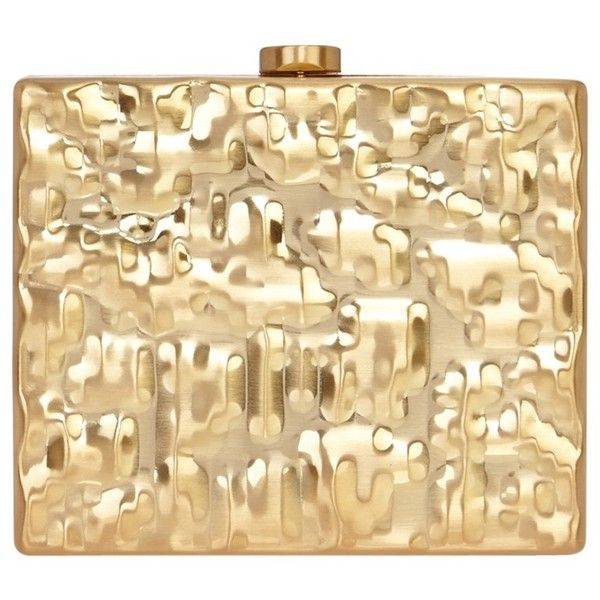 Coast Crinkle Metal Box Clutch Bag (639.130 IDR) ❤ liked on Polyvore featuring bags, handbags, clutches, gold, evening clutches, purse shoulder bag, handbag purse, evening handbags and beige clutches