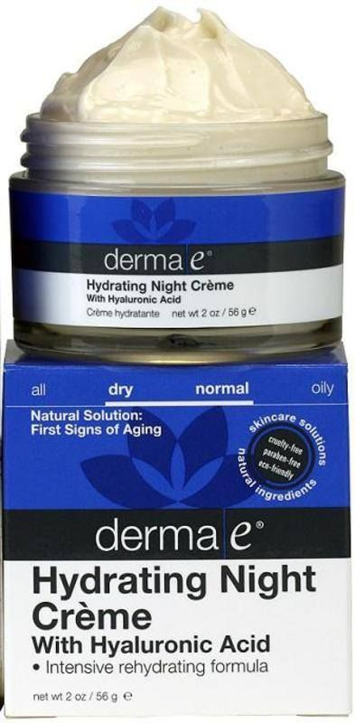 DERMA E HYDRATING NIGHT CREAM WITH HYALURONIC ACID 2 OZ