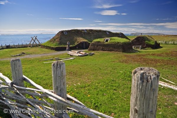 Picture of Reconstructed Long House L Anse Aux Meadows Newfoundland