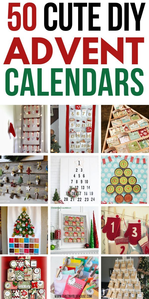 50 Gorgeous Diy Advent Calendar Ideas Craft Ideas Pinterest