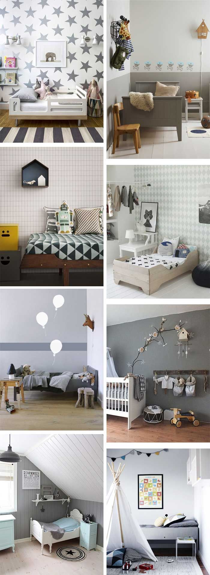 Ideas  Inspiration: Grey kids rooms