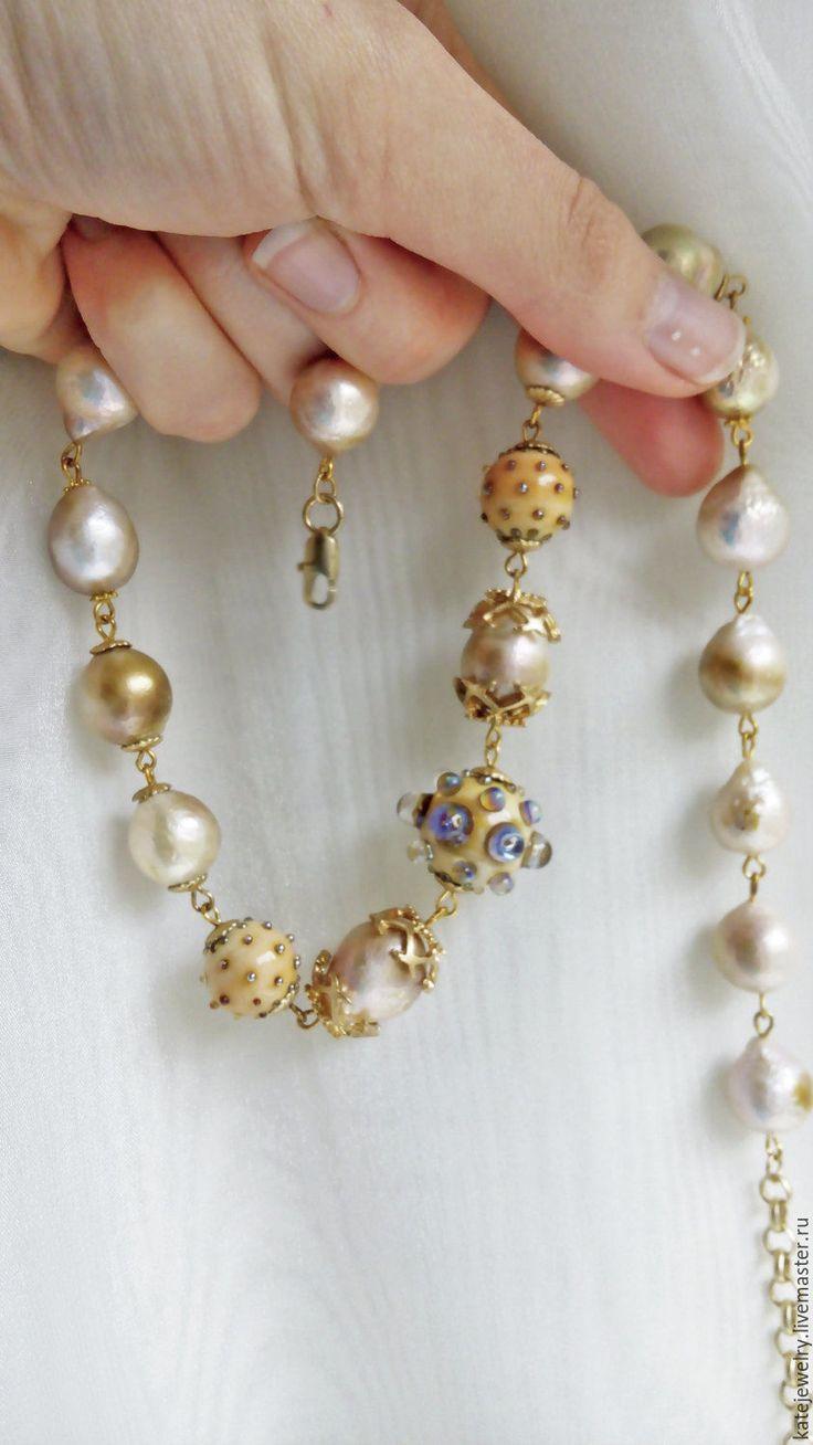 Купить Слезы Эльфа - золотой, золотистый касуми, комплект касуми, колье и браслет касуми