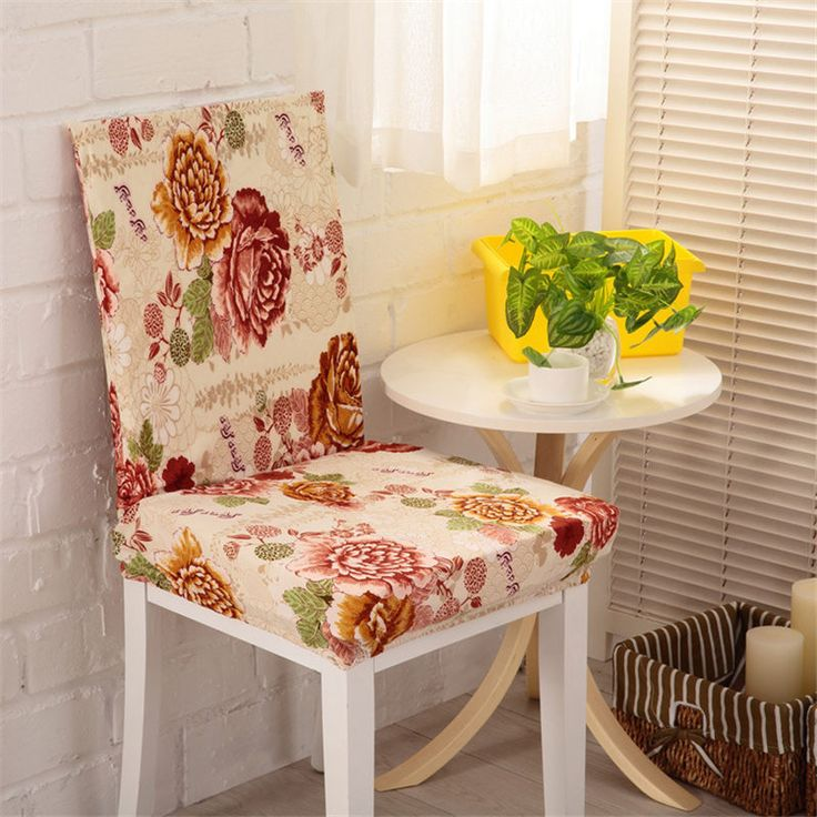 Stretch Chair Cover 17 Colors Flower Rose Printing Dinning Chair Cover Spandex Banquet Folding Wedding Chair Covers 55x55x60CM