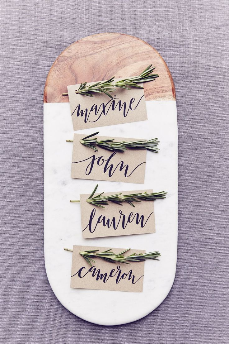 DIY Place Card Idea - Rustic with Rosemary (BridesMagazine.co.uk)