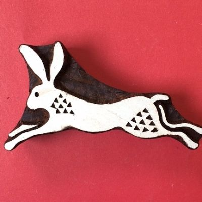 Indian Printing Block Leaping Hare
