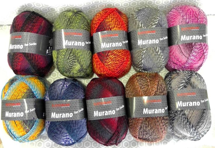 Sock Yarn  - Murano from Austermann Fio para meias #dotquiltsnewyarns #dotquilts #austermann #murano
