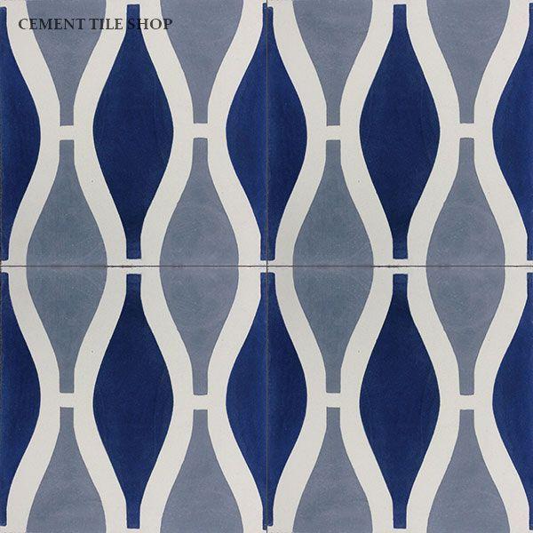 Cement Tile Shop Handmade Cement Tile Sea Breeze