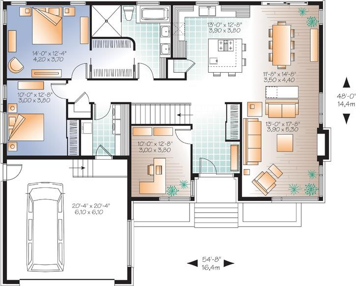 Best House Plans Images On Pinterest Small House Plans - Modern house 1 story