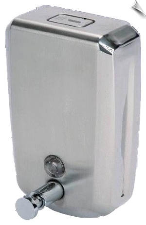 Mirror finish soap dispenser for Bathrooms, Kitchens, Hotels, Hospitals, Homes and all Wash stations.