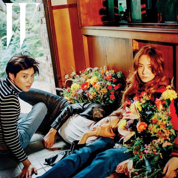 W Korea Official Photos from Daisy Illusive Photoshoot! AKA Charismatic Trio: Kai, Krystal & Taemin
