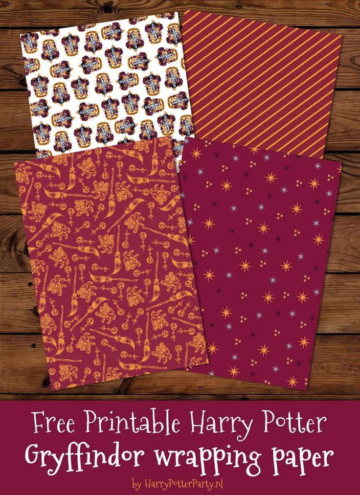 harry-potter-party-harry-potter-gryffindor-wrapping paper