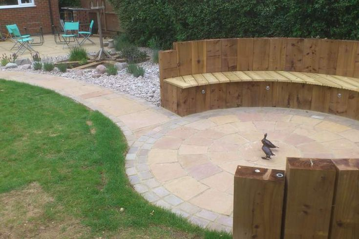 timber seating areas