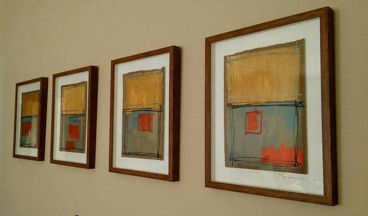 """Winter Sunrise"" acrylic on cardboard 470x380 framed x4"