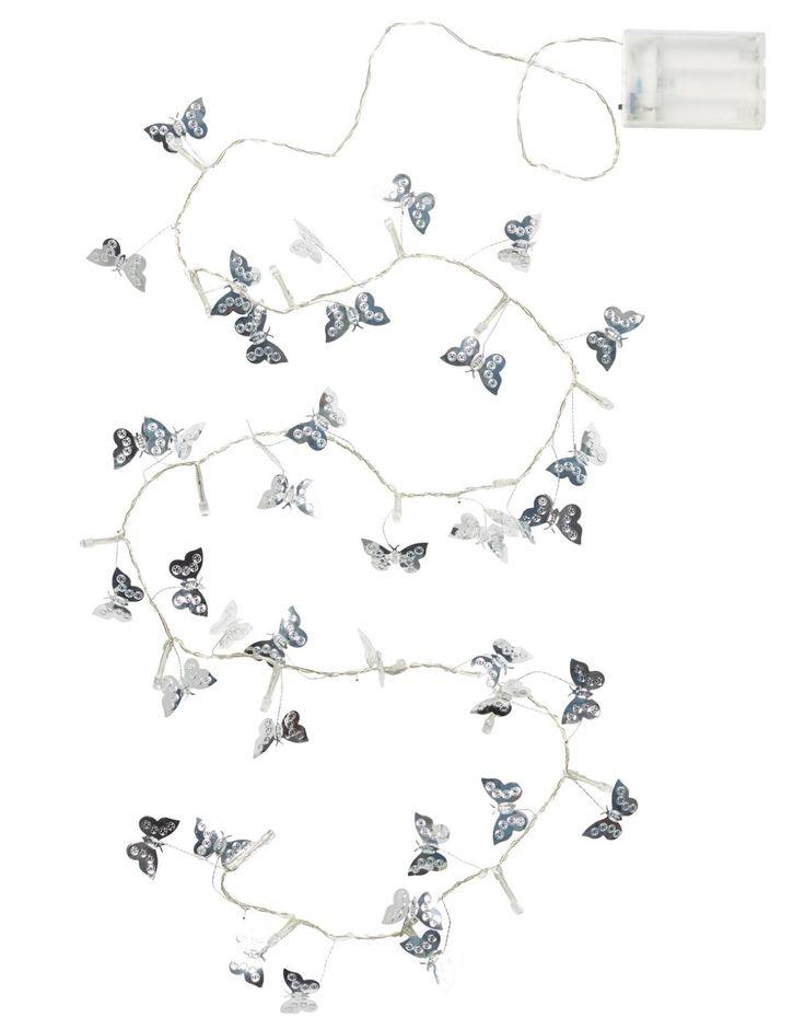 SILVER BUTTERFLY light chain