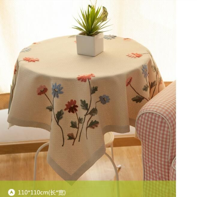 Gratis verzending Europese classic hand made bloem tafelkleden upscale borduren tafelkleed bekleding rechthoek meubels cover(China (Mainland))