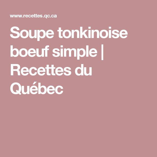 Soupe tonkinoise boeuf simple | Recettes du Québec