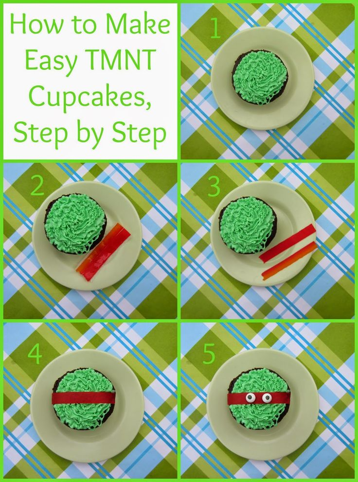 BentoLunch.net - What's for lunch at our house: How to Make Easy Teenage Mutant Ninja Turtle Cupcakes