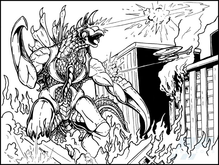 My Godzilla by thereal9thdoctor Monster coloring pages