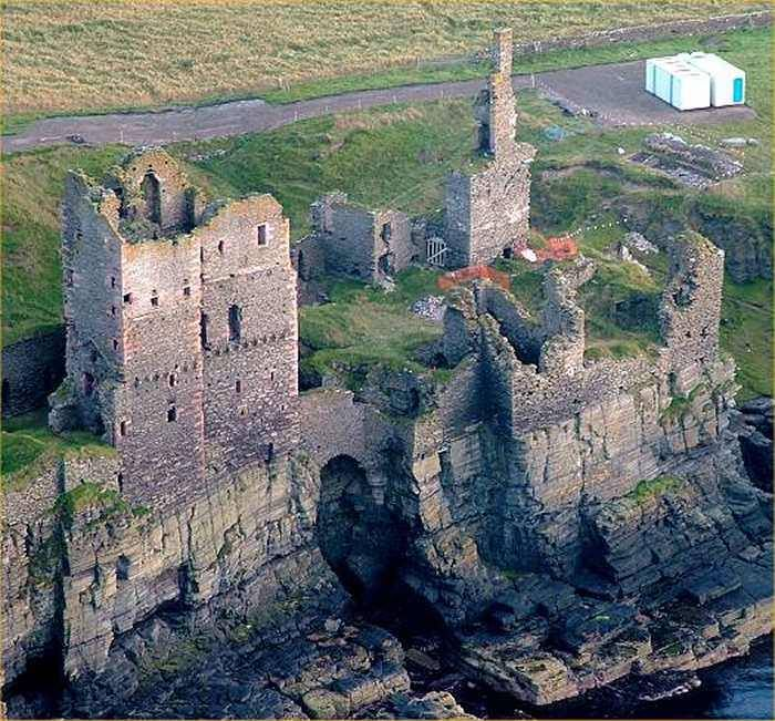 Castle Sinclair Girnigoe is a castle located about 3 miles north of Wick on the…