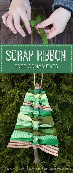 Scrap Ribbon Tree Ornaments | Fireflies and Mud Pies