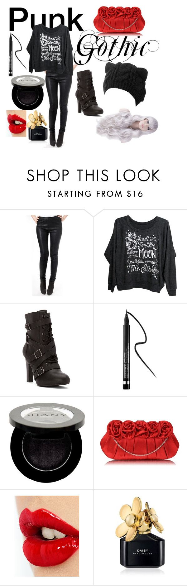 """""""Punk Outfit"""" by lavenderwrites ❤ liked on Polyvore featuring Mad Love, Mojo Moxy, Clinique, Shany, Charlotte Tilbury, Marc Jacobs, women's clothing, women, female and woman"""