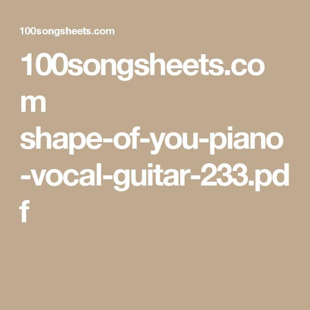 shape of you piano sheet pdf