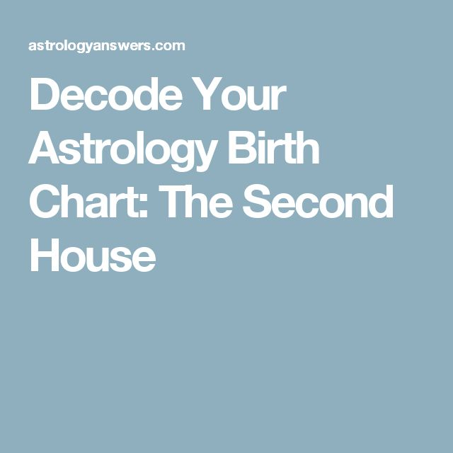 Decode Your Astrology Birth Chart: The Second House