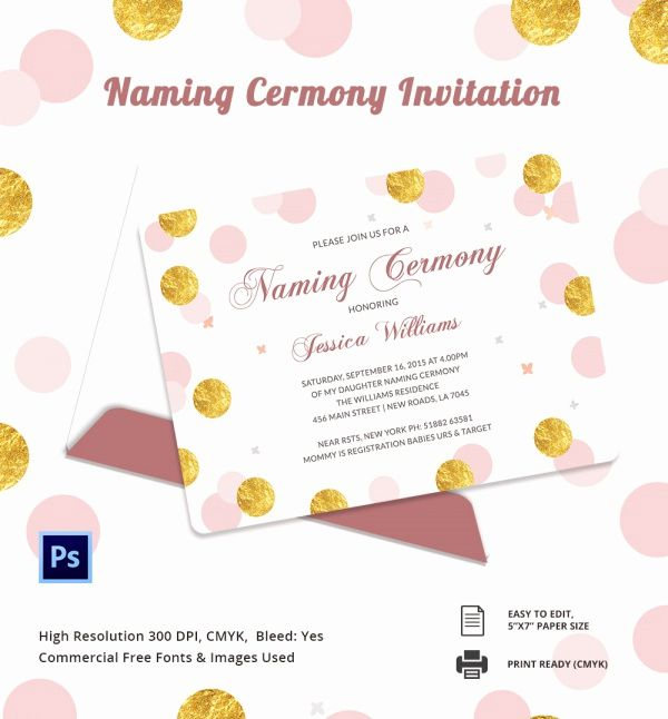 Baby Naming Ceremony Invitation Best Of Sample Invitation Template Download Premium And Free Naming Ceremony Invitation Invitation Template Invitations
