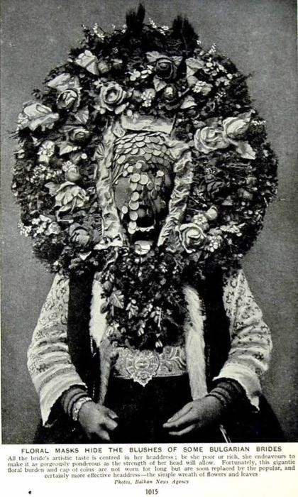 Bulgarian bridal headdress.