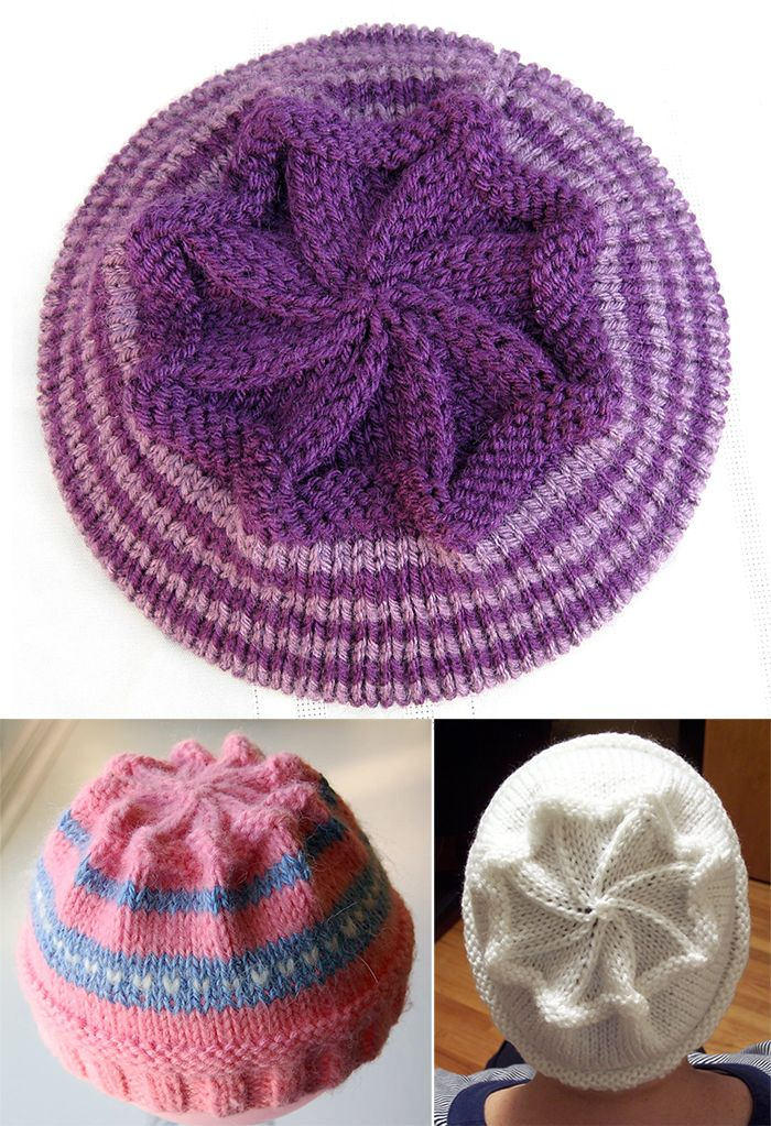 Free Knitting Pattern for Starburst Hat - Decreases create a star shape at  the crown of this hat. Sizes Preschool a04af0b809c4