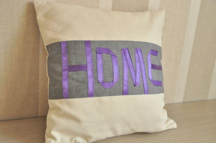 ręcznie szyta poszewka na poduszkę #home #handmade