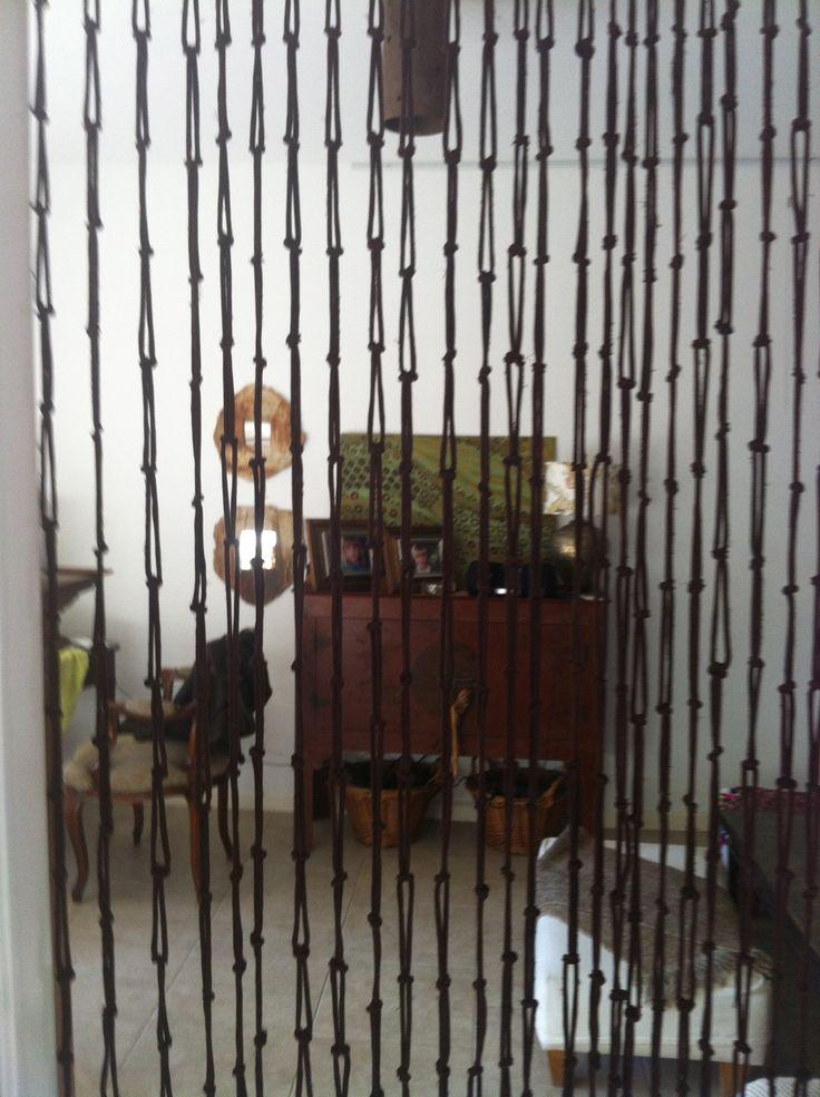 Tiras realizadas con nudos cortinas hechas con nuditos - Como hacer cortinas de tiras ...