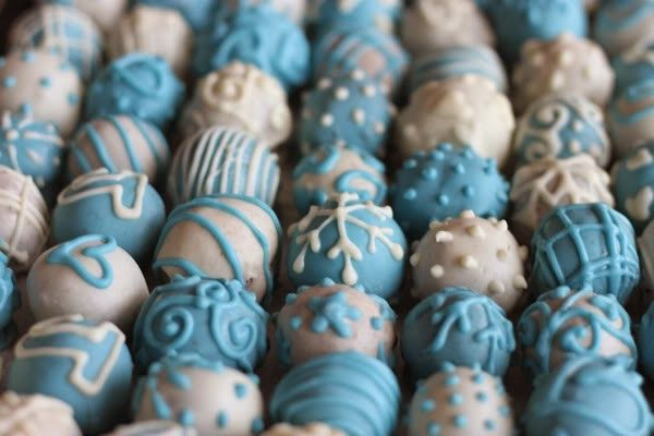 cake balls ... Someone ordered 4 dozen cake balls!! I've only made them once before! :)