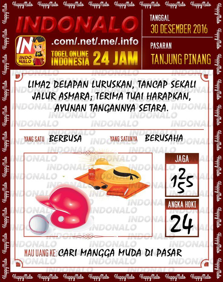 Kode Lotre 3D Togel Wap Online Live Draw 4D Indonalo Tanjung Pinang 30 Desember 2016