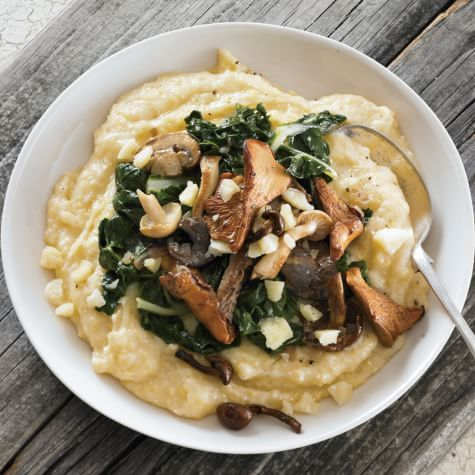 Polenta with White Cheddar, Chard and Wild Mushrooms | Williams Sonoma