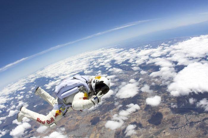 Jump: Sound Barrier, 120 000 Feet, Felix Baumgartn, Red Bull, Balloon, Highest Skydiving, Skydiving Felix, Bull Layer, Spaces Jumping