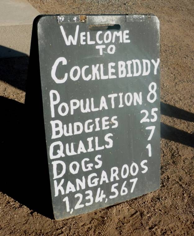 Outback Sign - Cocklebiddy, Western Australia