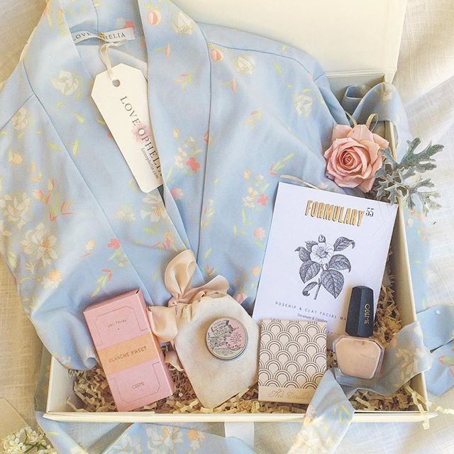 Sneak peak of our Something Blue Box. Perfect for a #bridetobe or one of her maids! Bridesmaid gift. Bride to Be Gift Box. Engagement Gift. Bridesmaid Proposal. Getting Ready Robe. Bridal Party Gift. Bridal robes.
