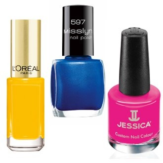 fluo nail polishes
