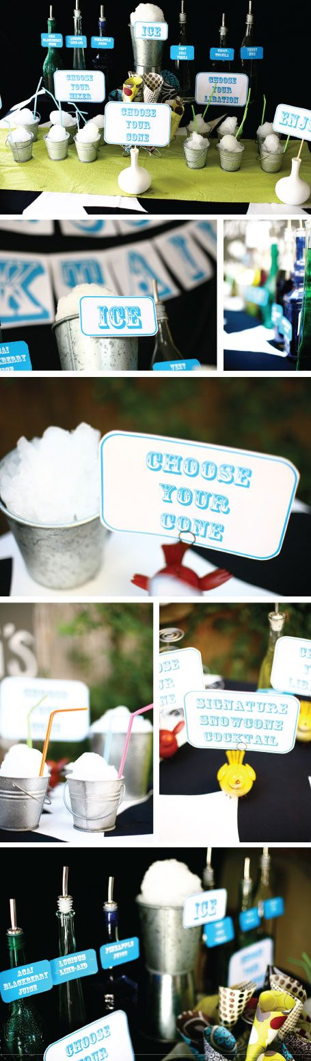 Party Inspiration: Snow Cone Bar! Ummmm whaaaaat? I think I need this!