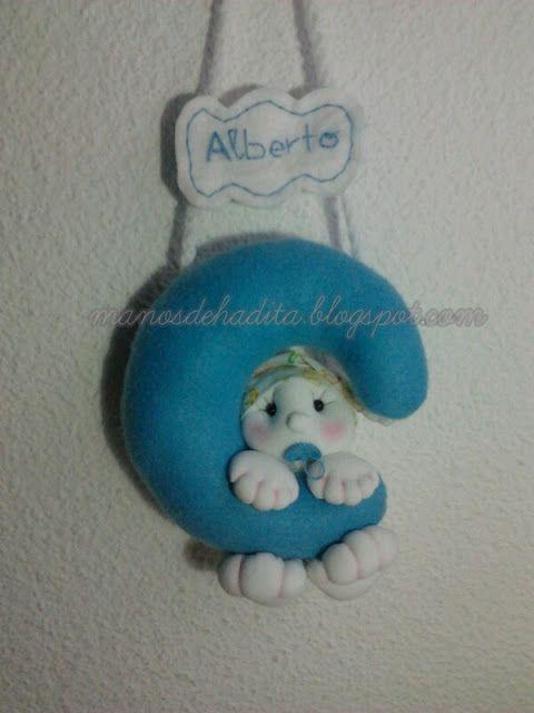 bebé soft en luna, muñeco soft