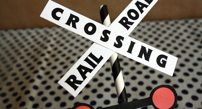 Thomas Birthday Party Decorations: Railroad Crossing Labels . PBS Parents | PBS