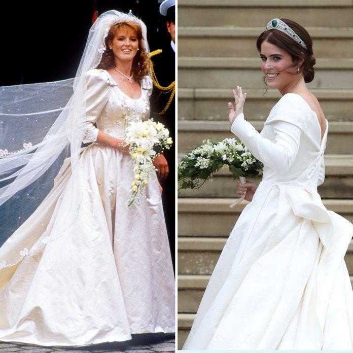 How Does Princess Eugenie S Wedding Dress Compare To Mom Sarah